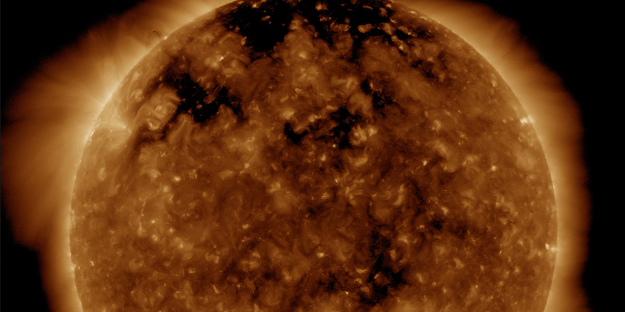 Coronal hole faces Earth